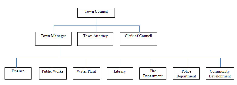 Town of Clifton Forge, Va organization chart
